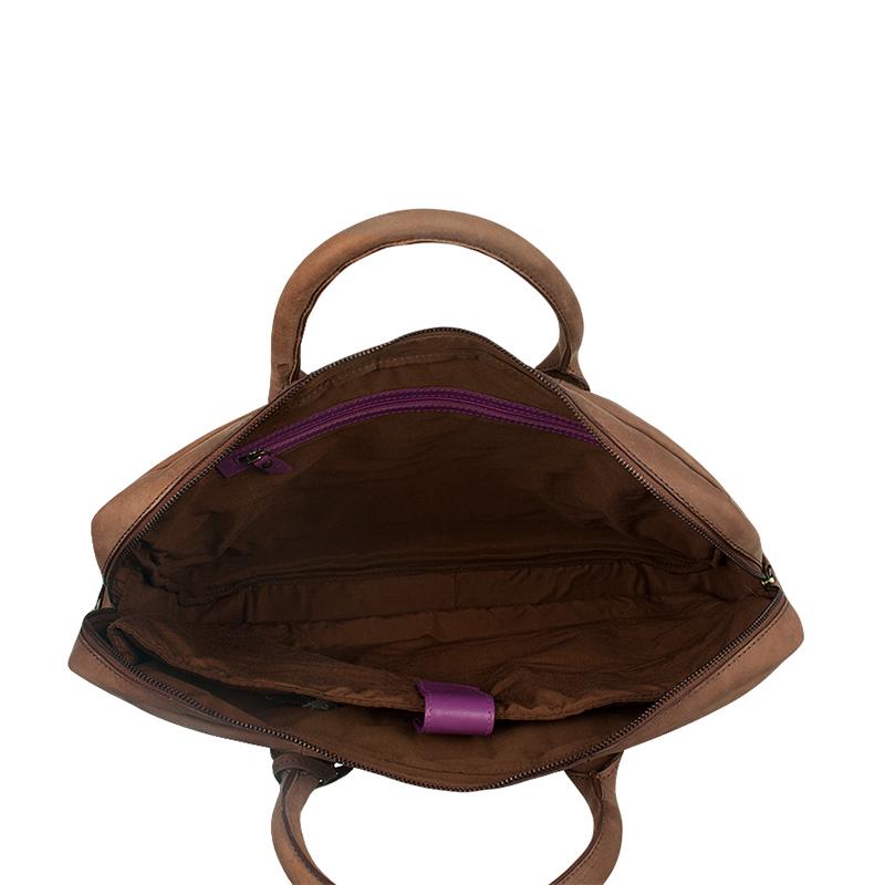 """Burkely Laptop Bag 17"""" Cognac-67529"""