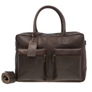 Burkely Vintage Alex Schoudertas Dark Brown-0