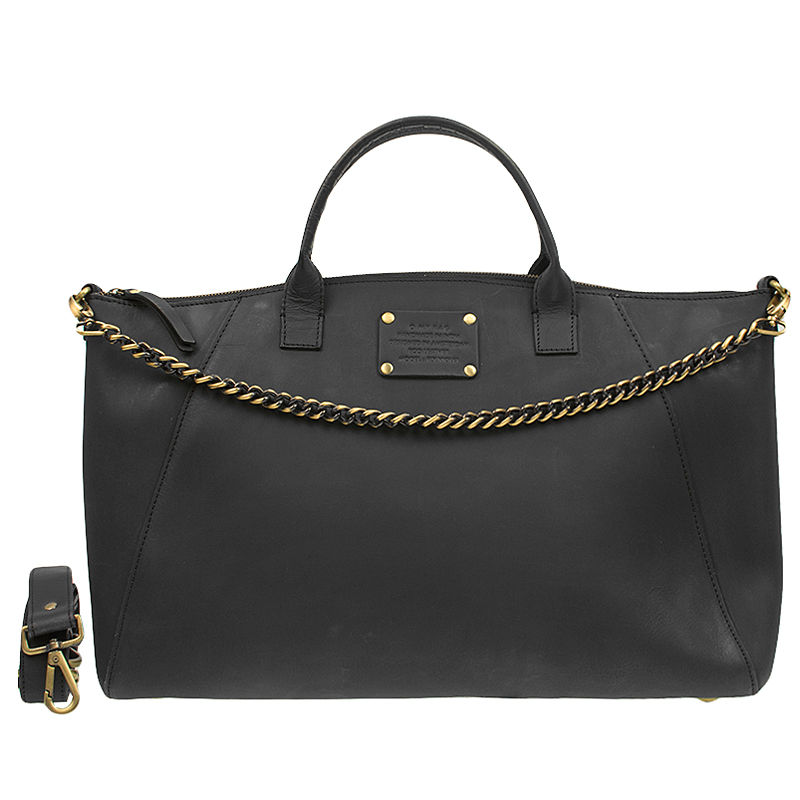 O My Bag Fly Violet Maxi Eco-Black With Chain-0