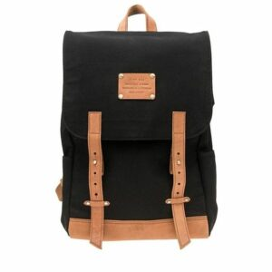 O My Bag Mau's Backpack Black Canvas-0