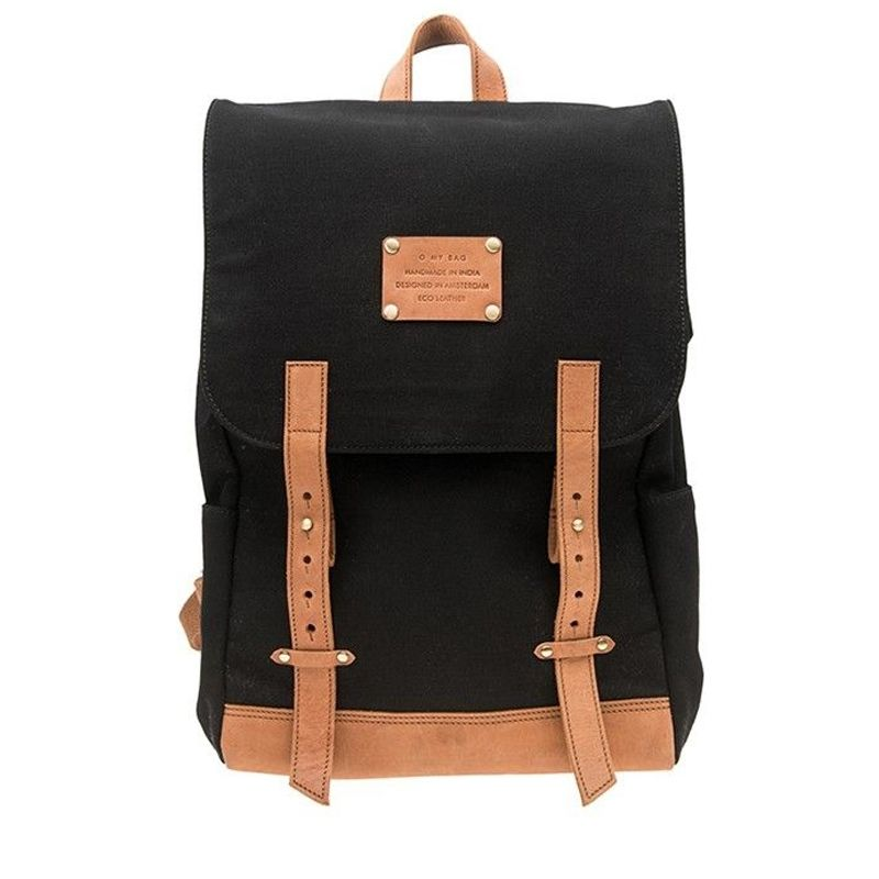 O My Bag Mau's Backpack Black Canvas-0