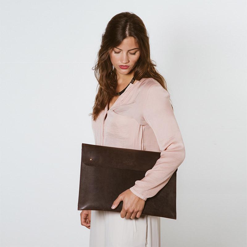 O My Bag Laptop Sleeve 15inch Dark Brown-64156