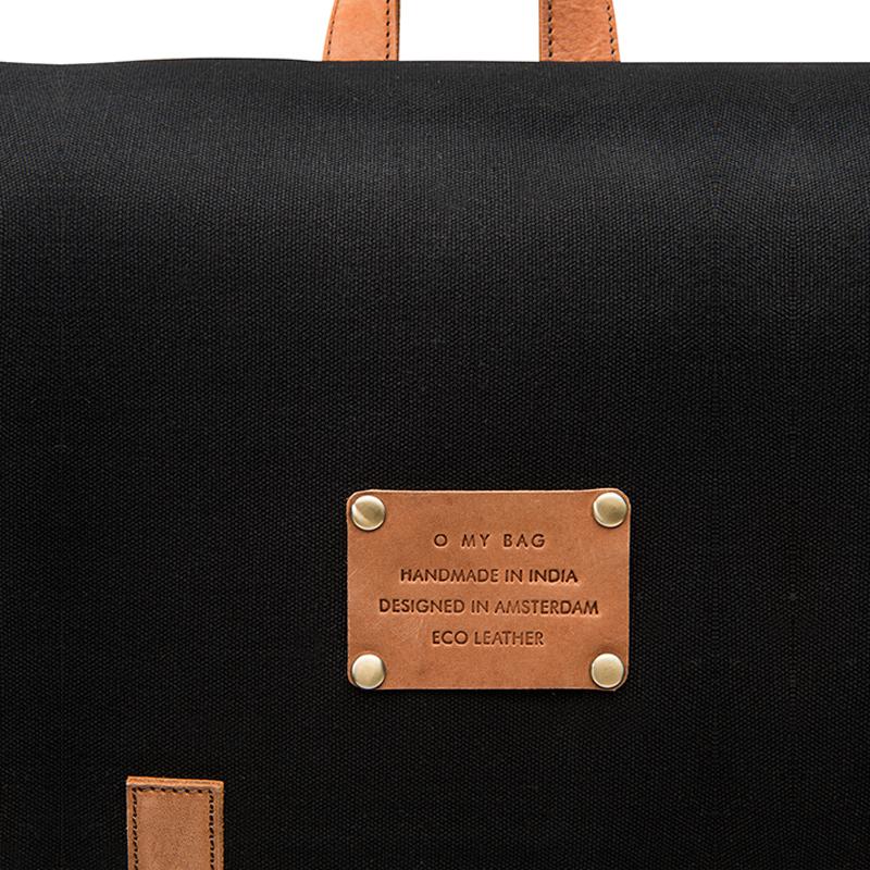 O My Bag Mau's Backpack Black Canvas-65965