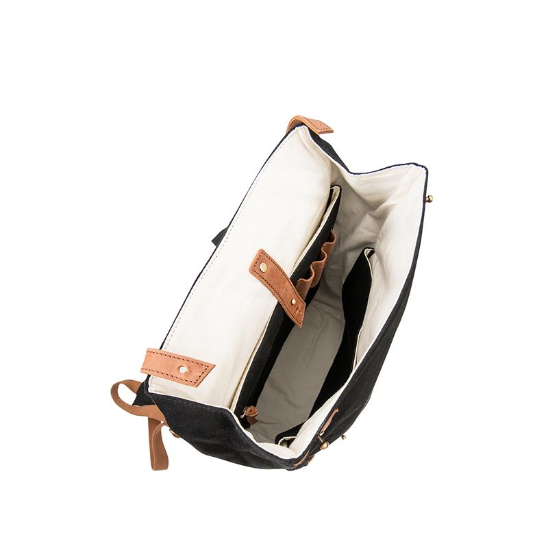 O My Bag Mau's Backpack Black Canvas-65964
