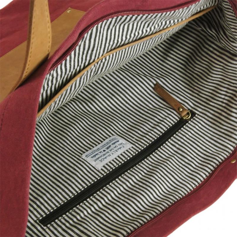 O My Bag Lou's Big Bag Burgundy Canvas-66729