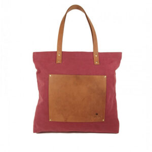 O My Bag Lou's Big Bag Burgundy Canvas-0