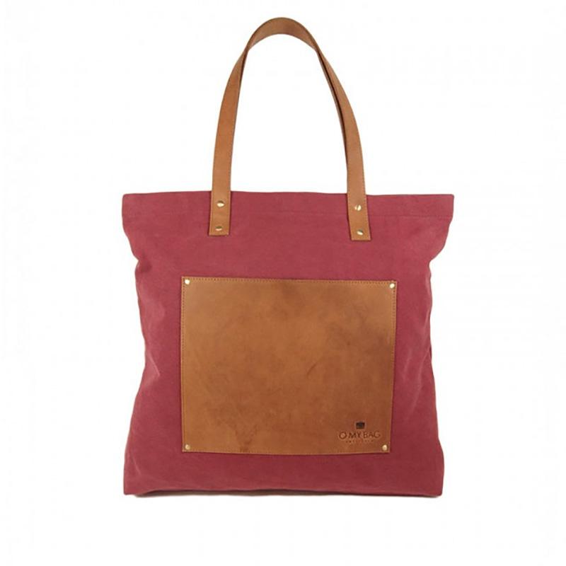 O My Bag Lou's Big Bag Burgundy Canvas-0