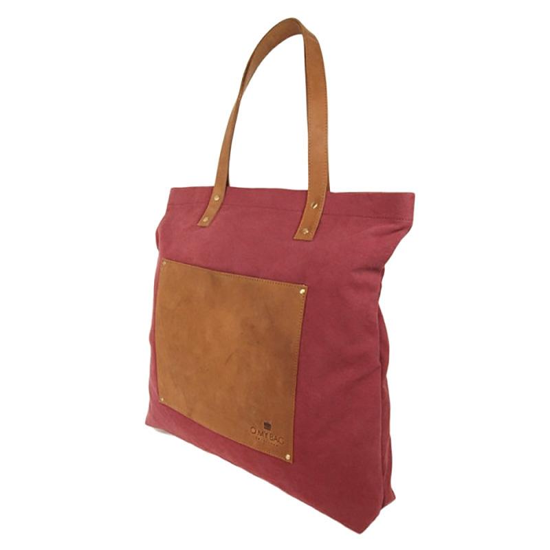 O My Bag Lou's Big Bag Burgundy Canvas-66730