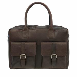 Burkely Vintage Finn Laptoptas Dark Brown-0