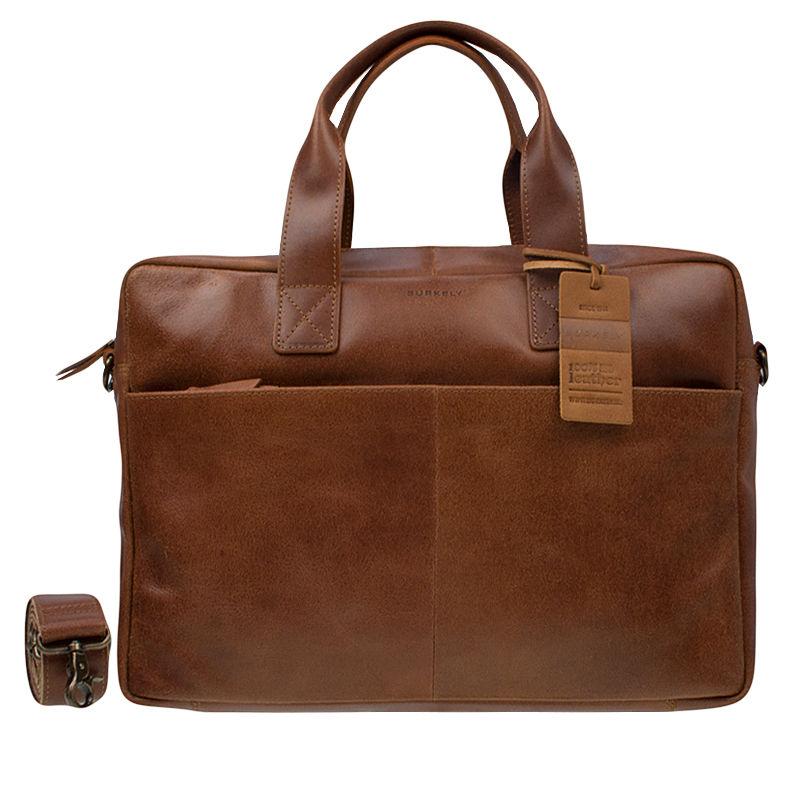 Burkely Vintage River Laptoptas Cognac-0