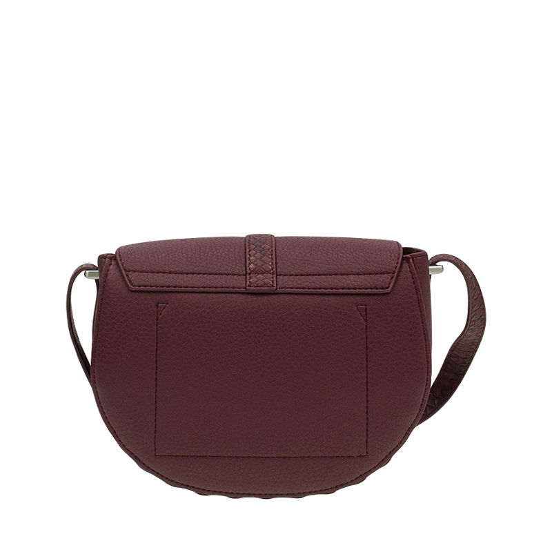 Calvin Klein Poppy Saddle Bag Oxblood-87461