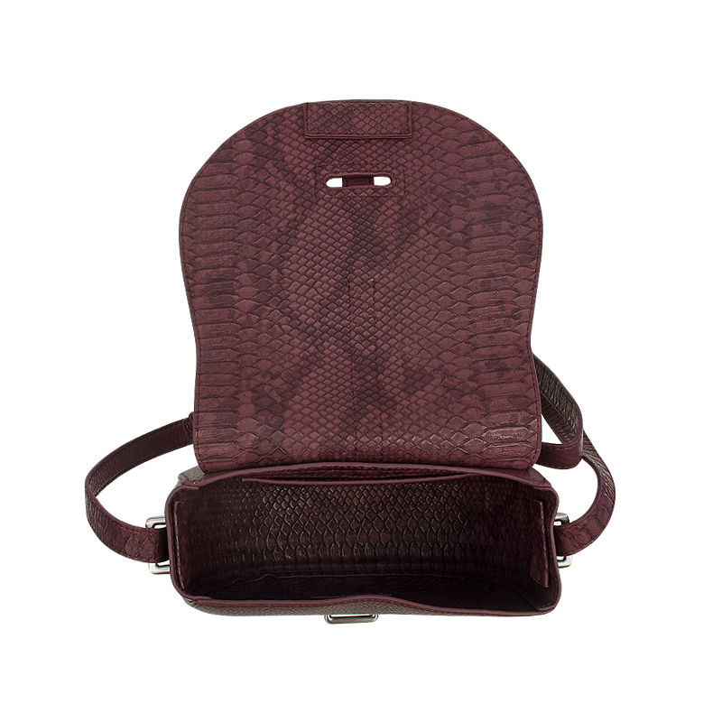 Calvin Klein Poppy Saddle Bag Oxblood-87459