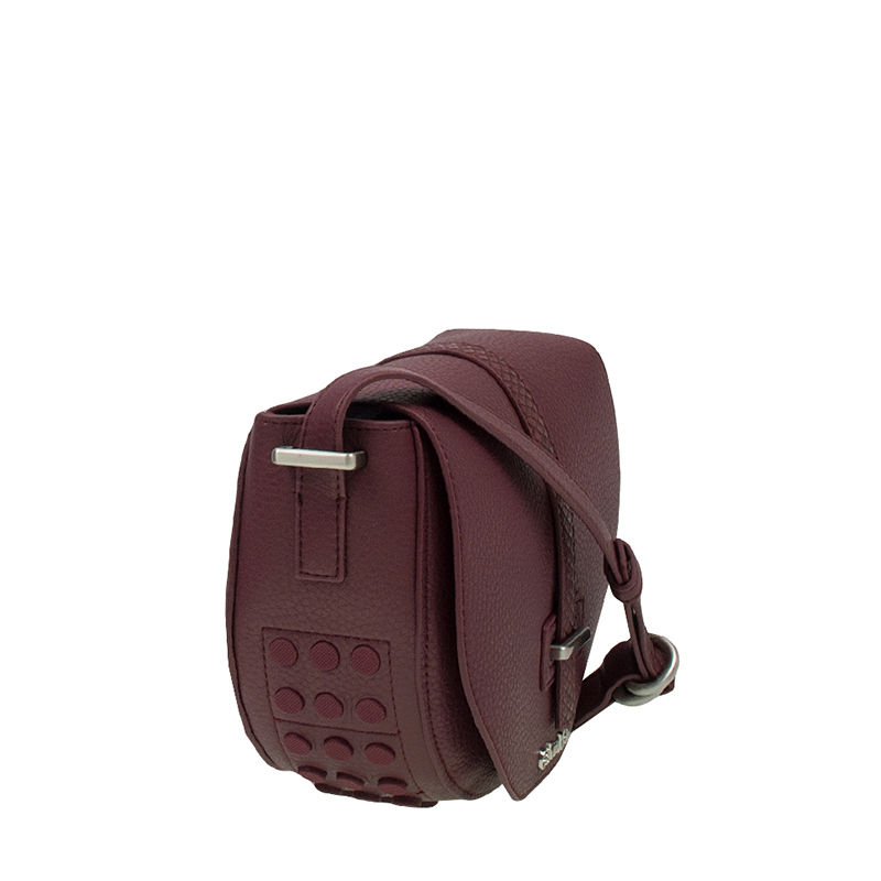 Calvin Klein Poppy Saddle Bag Oxblood-87462
