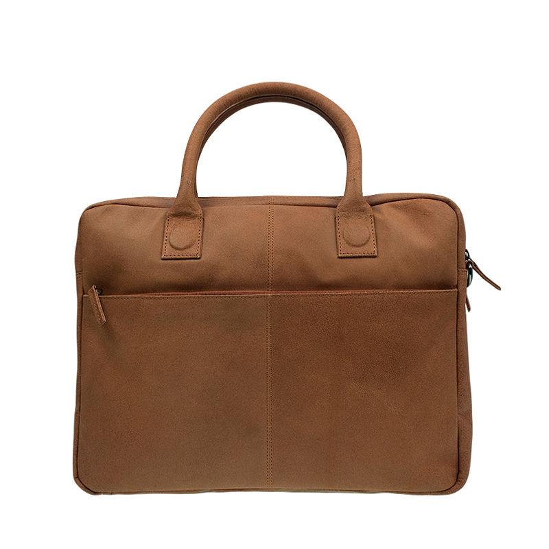 DSTRCT Fletcher Street Double Zipper Laptop Bag Cognac-92025
