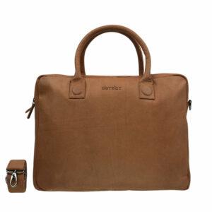 DSTRCT Fletcher Street Double Zipper Laptop Bag Cognac-0
