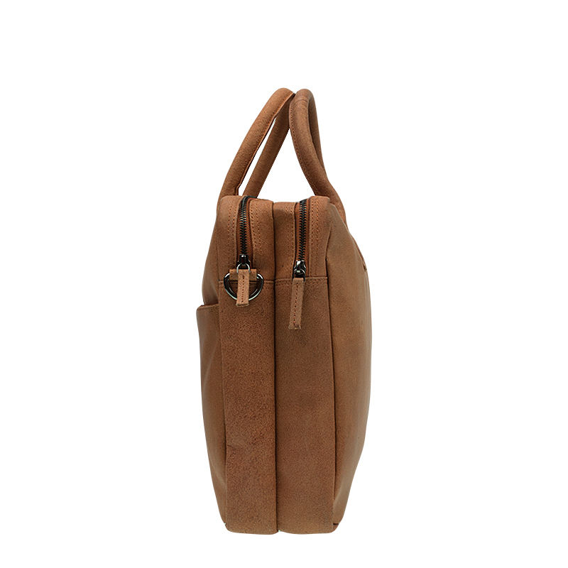 DSTRCT Fletcher Street Double Zipper Laptop Bag Cognac-92026