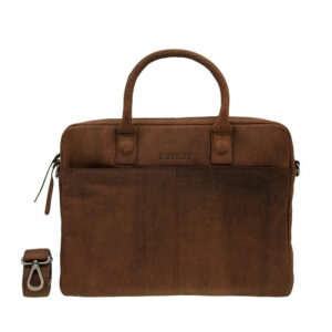 DSTRCT Wall Street 14″ Laptop Bag Brown