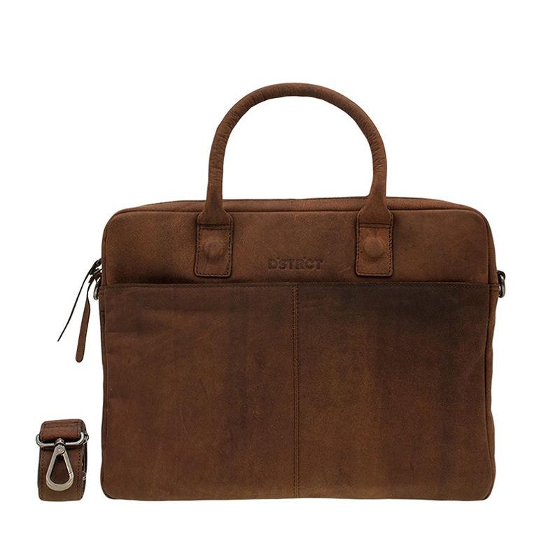 "DSTRCT Wall Street 14"" Laptop Bag Brown-0"