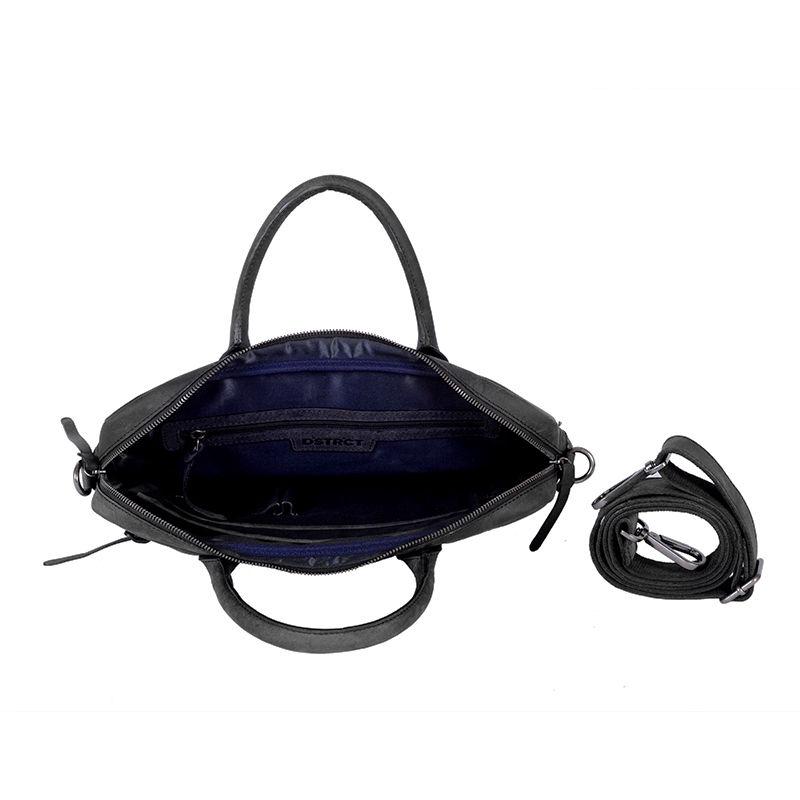"DSTRCT Wall Street 14"" Laptop Bag Black-85076"