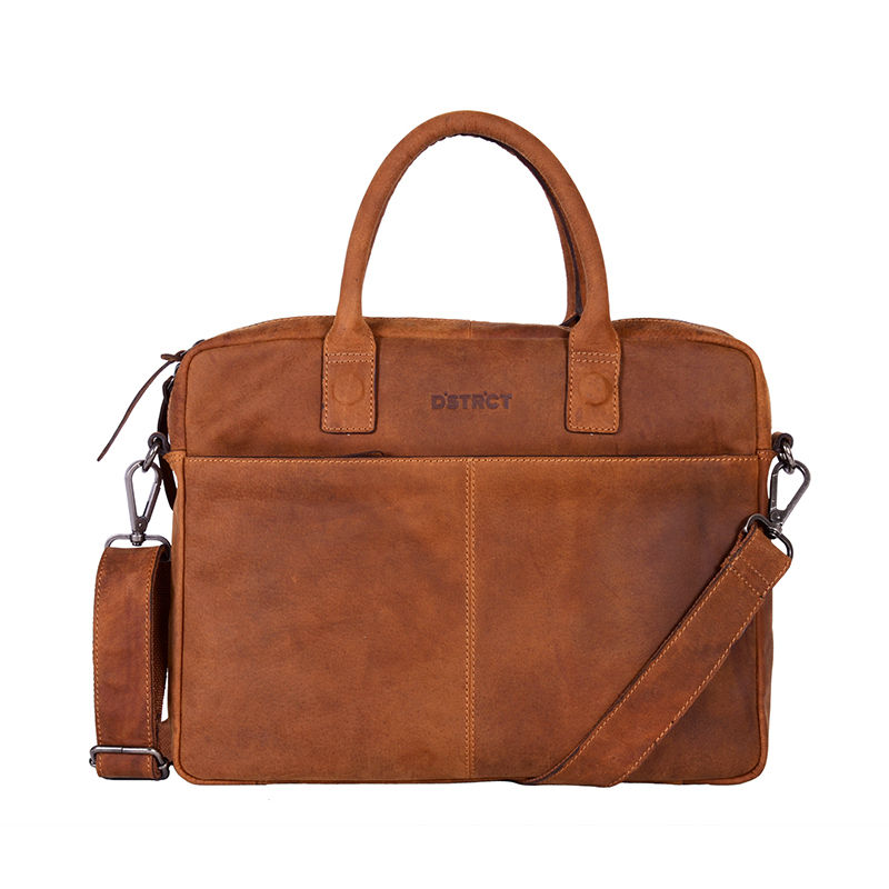 "DSTRCT Wall Street 14"" Laptop Bag Cognac-0"
