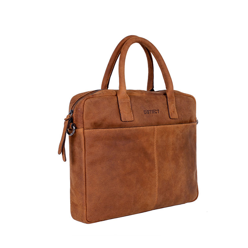 "DSTRCT Wall Street 14"" Laptop Bag Cognac-85071"