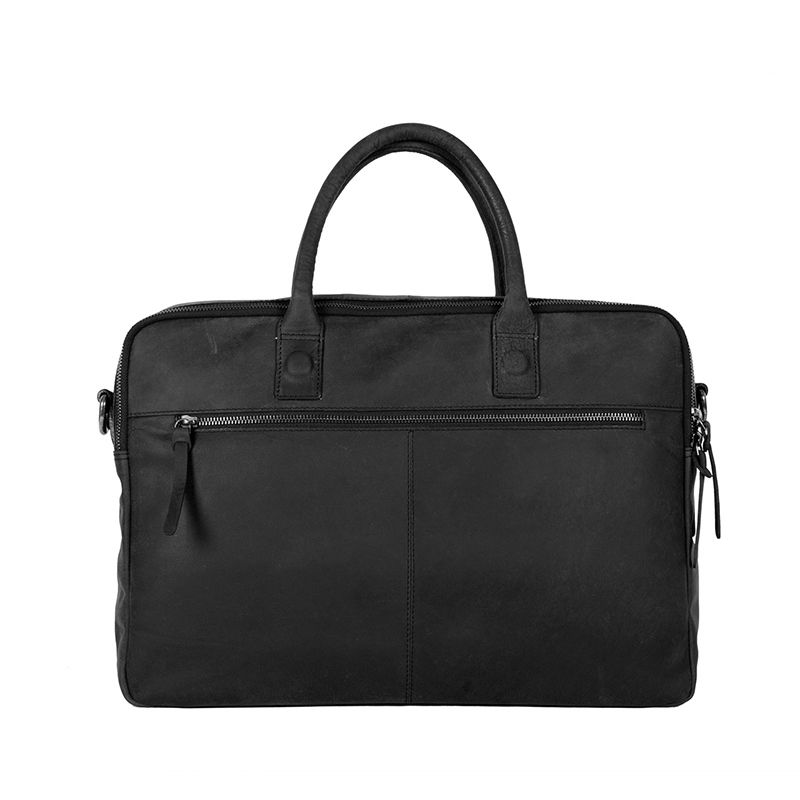 DSTRCT Wall Street Double Zipper Laptop Bag Black-85200