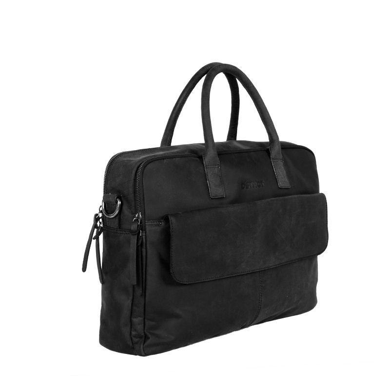 DSTRCT Wall Street Double Zipper Laptop Bag Black-85203