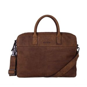 DSTRCT Wall Street 15″ Laptop Bag Brown
