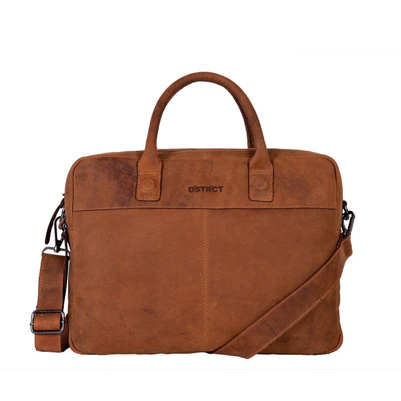 "DSTRCT Wall Street 15"" Laptop Bag Cognac-0"