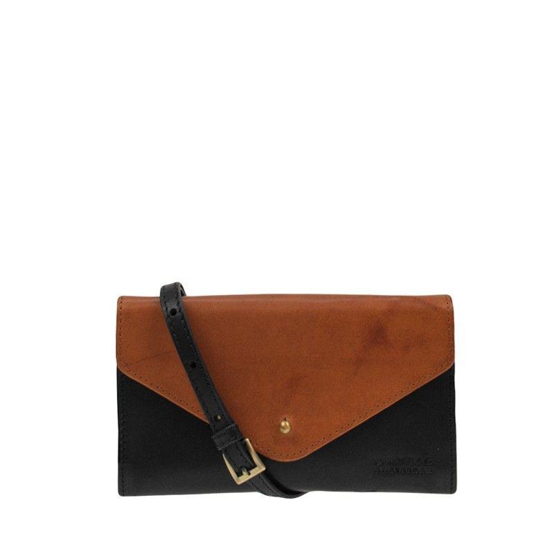 O My Bag Josephine Classic Black and Camel-0