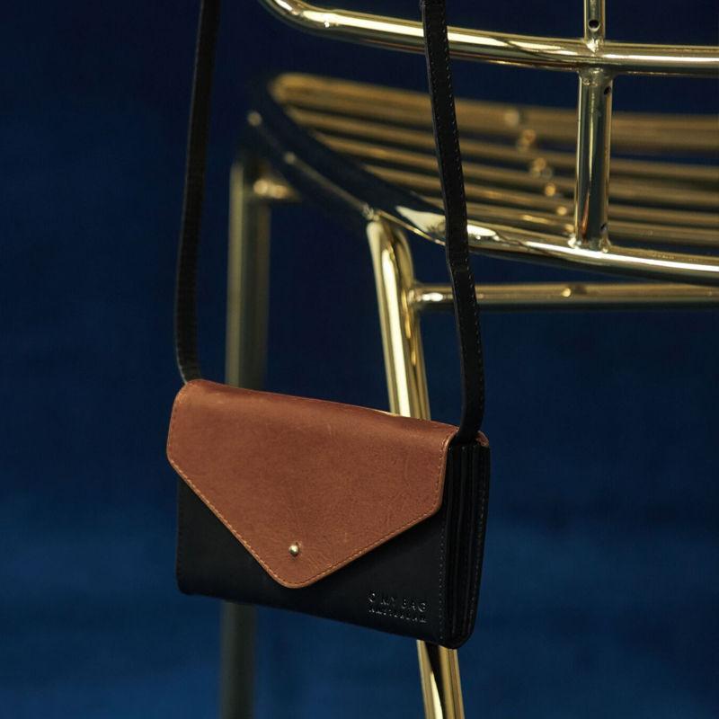 O My Bag Josephine Classic Black and Camel-104975