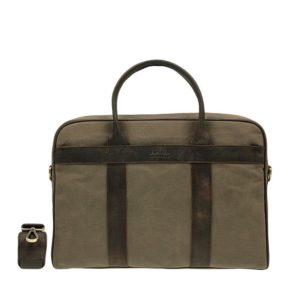 O My Bag The Harvey Olive Waxed Canvas Dark Brown-0