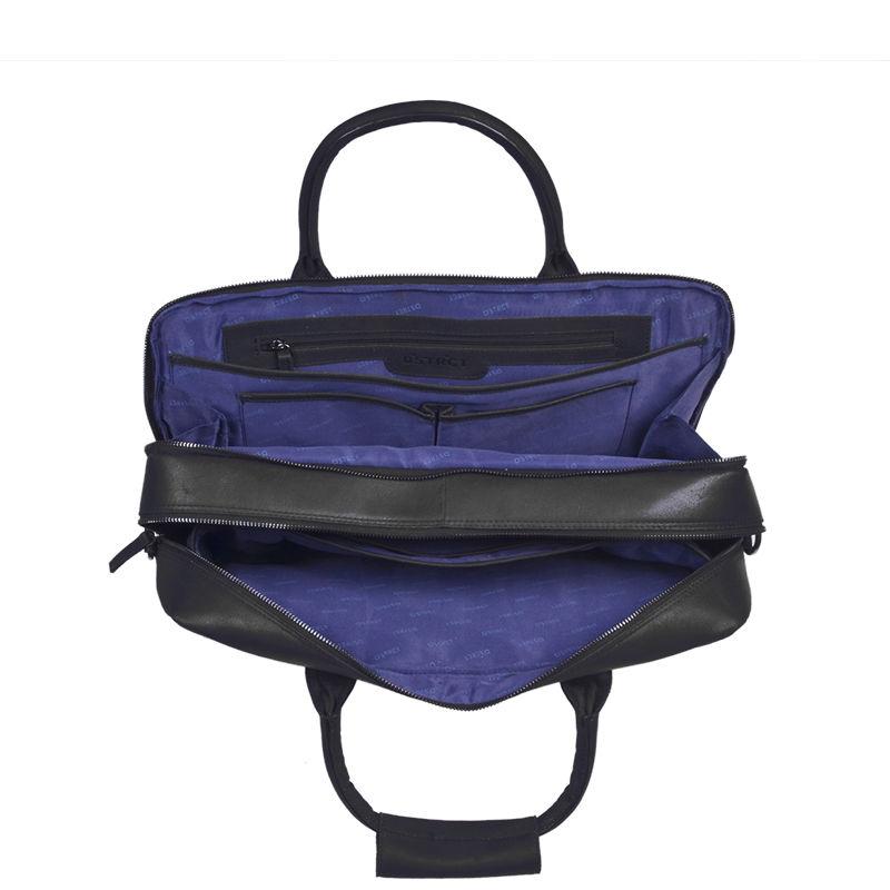 DSTRCT Fletcher Street 17'' Business Bag Zipper Black-89536