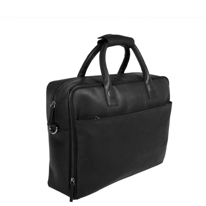 DSTRCT Fletcher Street 17'' Business Bag Zipper Black-89539