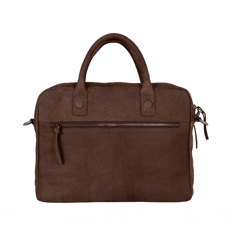 DSTRCT Wall Street Business Bag Double Zipper Brown-89582