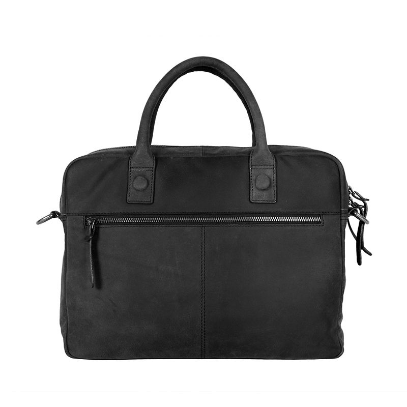 DSTRCT Wall Street Business Bag Double Zipper Black-89547