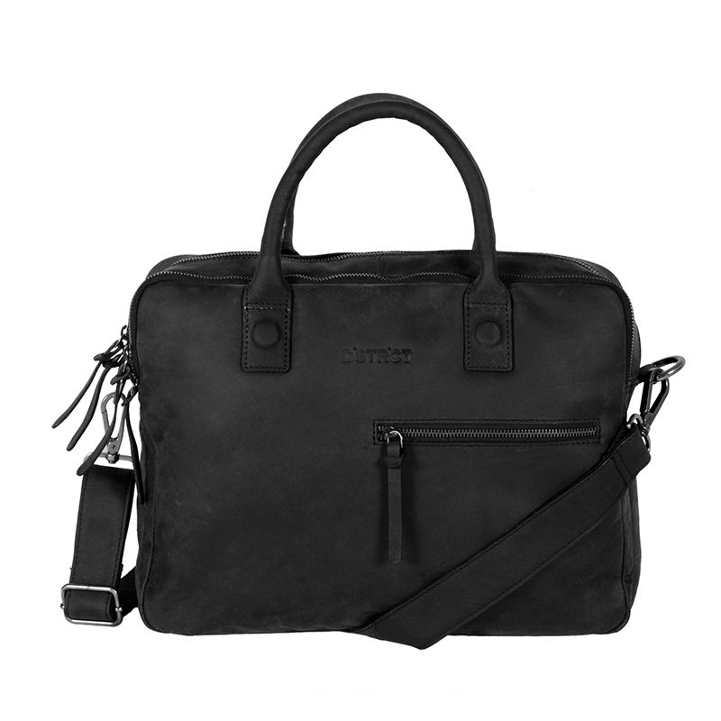 DSTRCT Wall Street Business Bag Double Zipper Black-0