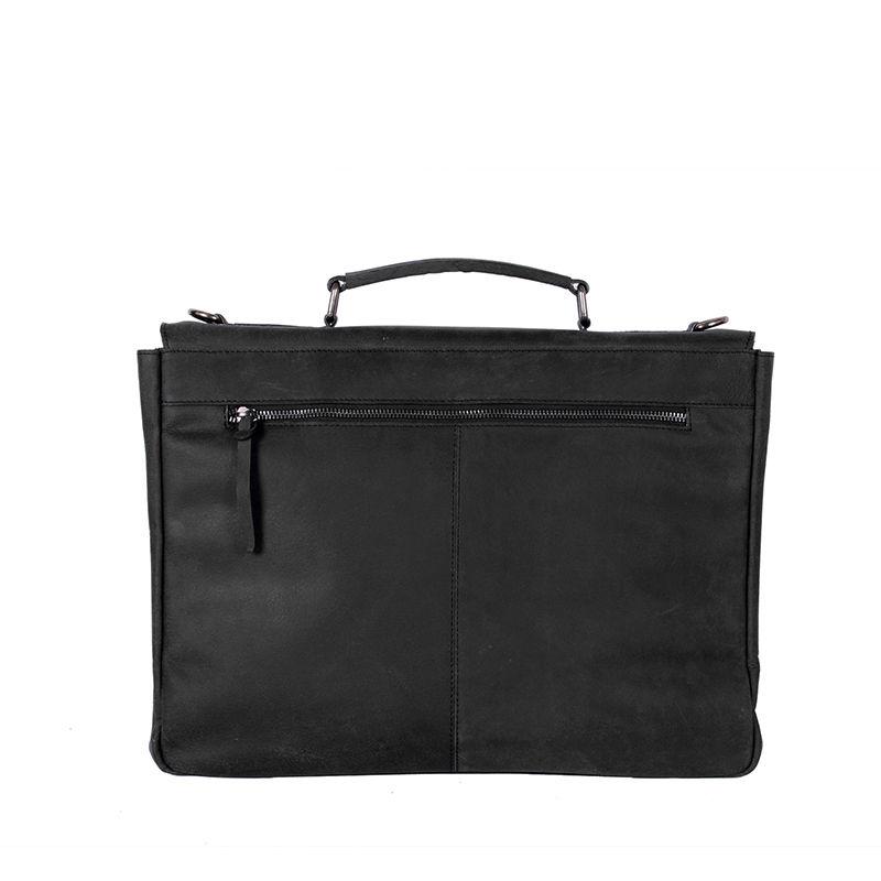 DSTRCT Wall Street Laptop Bag Snap Buckle Black-89528