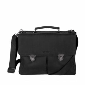 DSTRCT Wall Street Laptop Bag Snap Buckle Black