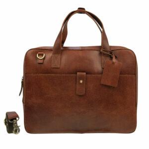 Burkely Vintage Noa Laptoptas Cognac