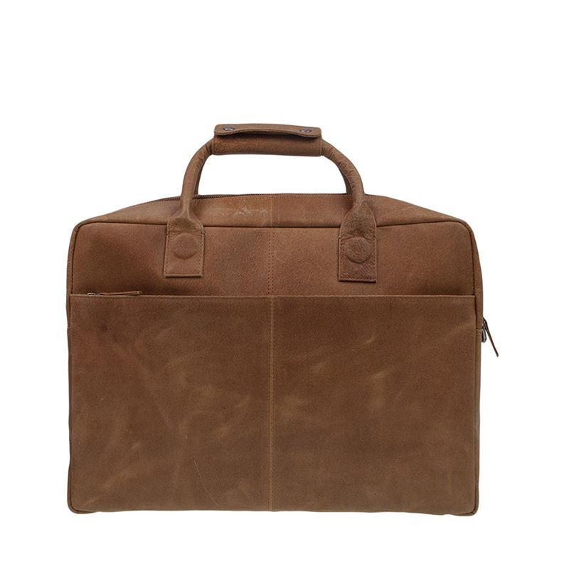 DSTRCT Fletcher Street 17'' Business Bag Zipper Cognac-104296