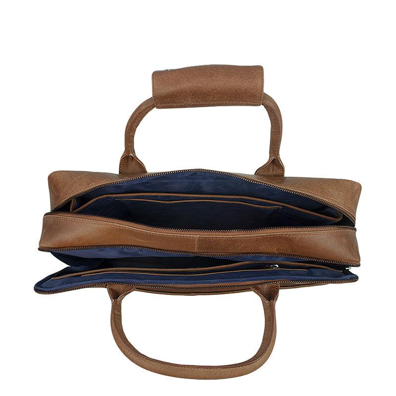 DSTRCT Fletcher Street 17'' Business Bag Zipper Cognac-104298