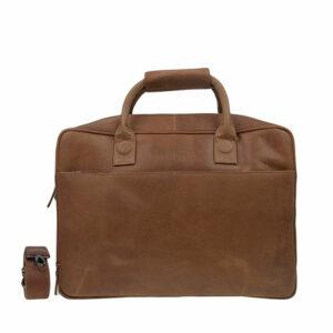 DSTRCT Fletcher Street 17'' Business Bag Zipper Cognac-0