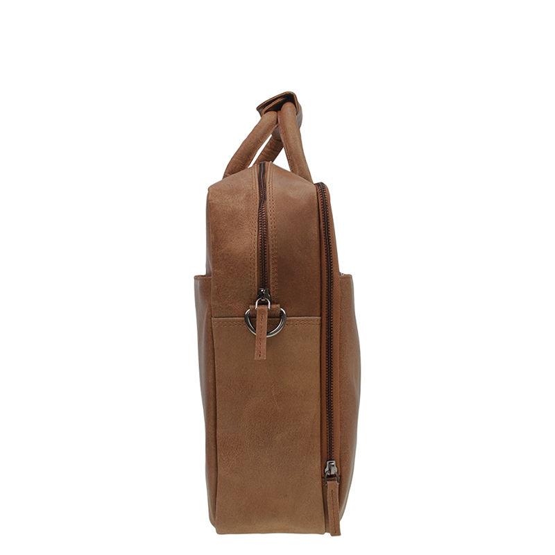 DSTRCT Fletcher Street 17'' Business Bag Zipper Cognac-104299