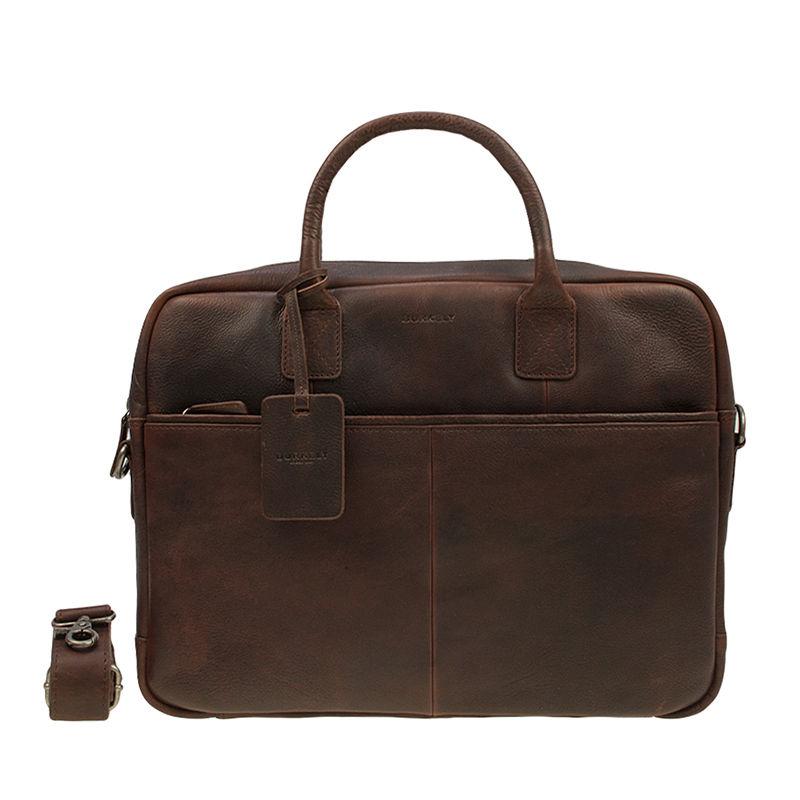 "Burkely Antique Avery Laptoptas 15"" Brown-0"