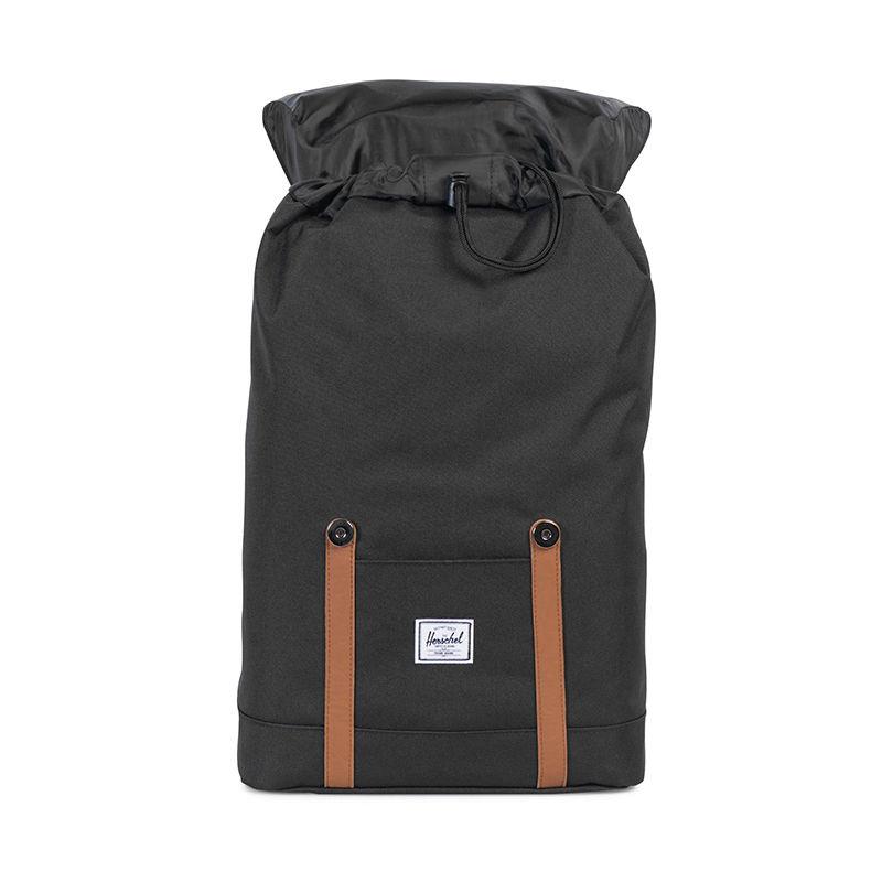 Herschel Retreat Mid-Volume Black / Tan Leather-105905