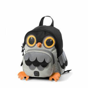Pick & Pack Backpack Owl Shape Grey-0