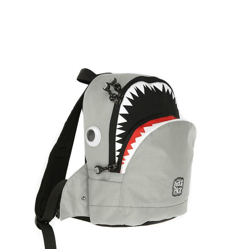 Pick & Pack Backpack Shark Shape Grey-107316