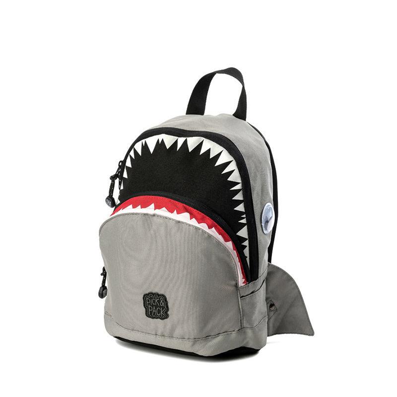 Pick & Pack Backpack Shark Shape Grey-0
