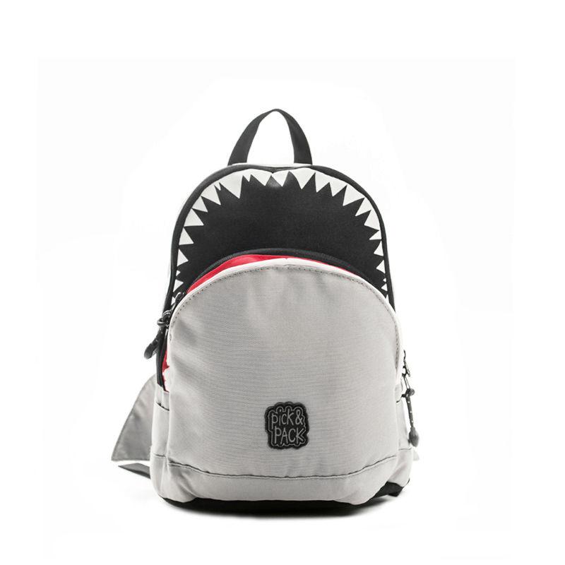 Pick & Pack Backpack Shark Shape Grey-107317